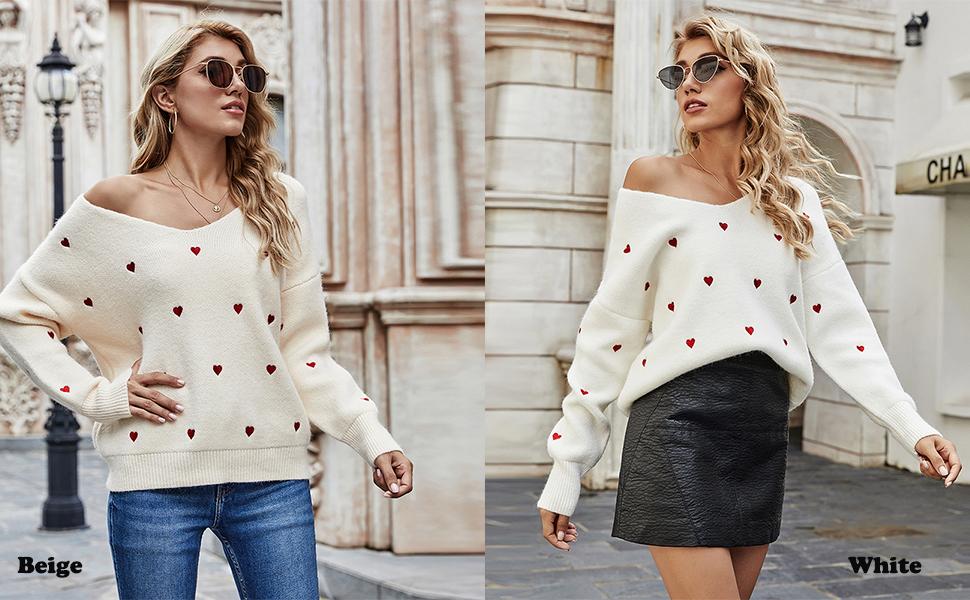 womenvneckchunky sweater