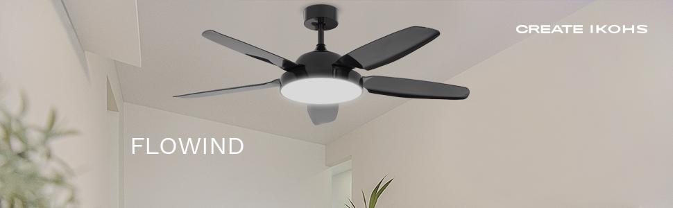 IKOHS FLOWIND - Ventilador de Techo con Luz, Diseño Exclusivo ...