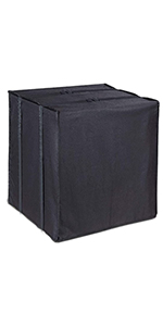 LBG Products Square Black Air Conditioner Outside Cover For Central AC Condenser