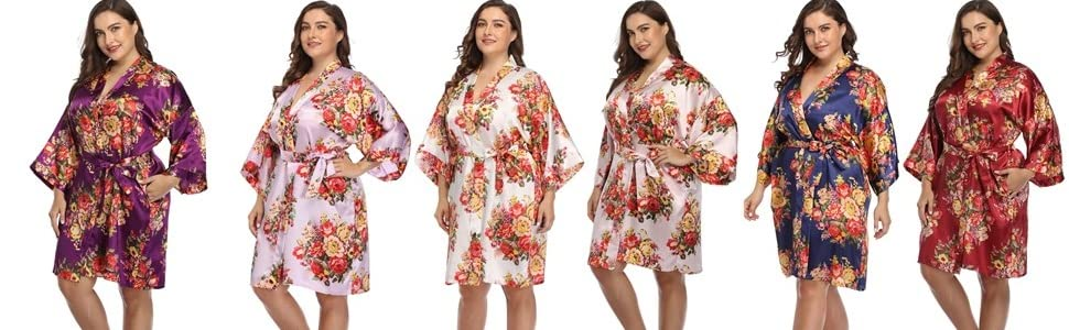 satin robes for women plus size silk floral robes for women plus robes for curvy women