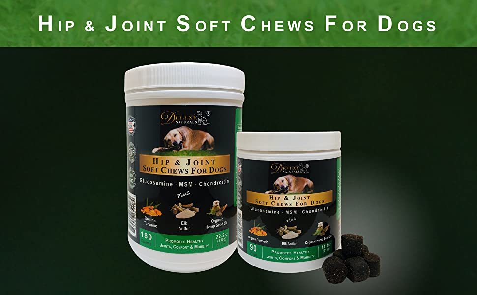 Deluxe Naturals Hip and Joint Soft Chews for Dogs