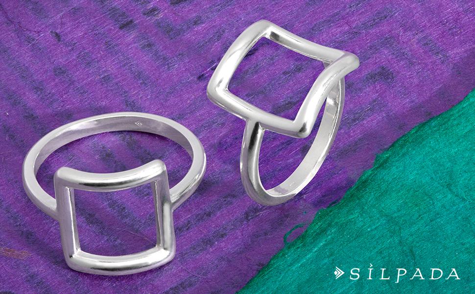 Silpada 'Catuskoti' Open Square Ring