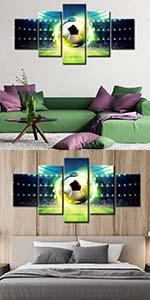 Bedroom wall decoration /  Boy's room wall decoration /  Sports room wall decoration