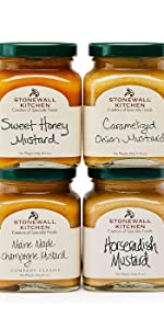 Stonewall Kitchen Mustard Collection 4 pack gift