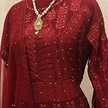 Maroon Color Gown,suit for women,suit and salwar,suit design,suit ethnic wear for women