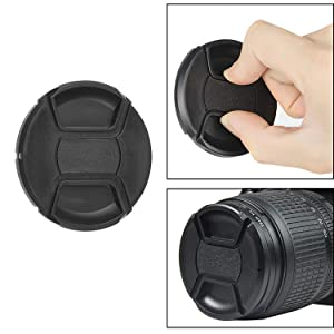 Sony 135mm f//2.8 Lens Cap Center Pinch Nw Direct Microfiber Cleaning Cloth. + Lens Cap Holder 72mm
