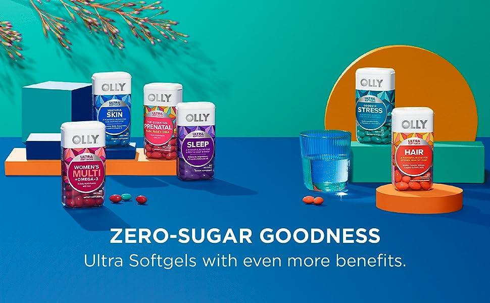 no sugar vitamins, softgels, multivitamin pill
