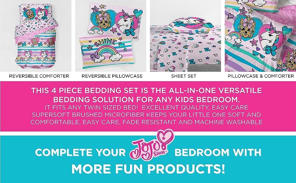 Jojo Siwa, Bed Set, Sheet Set