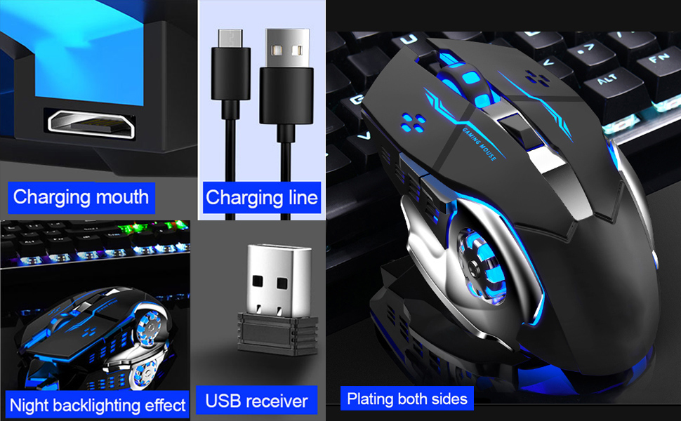 Wireless Professional Rechargeable Gaming Mouse