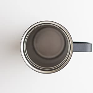 InstaCuppa Thermos Travel Mug with Handle - Has A Wide Mouth Opening - Makes It Very Easy To Clean
