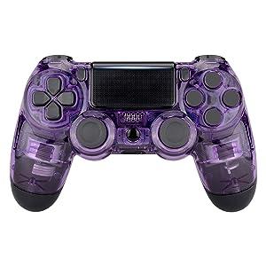 eXtremeRate Carcasa PS4 Funda Delantera Protectora de la Placa Frontal Cubierta reemplazable para Mando de Playstation 4 PS4 Slim Pro (CUH-ZCT2 JDM-040 JDM-050 JDM ...