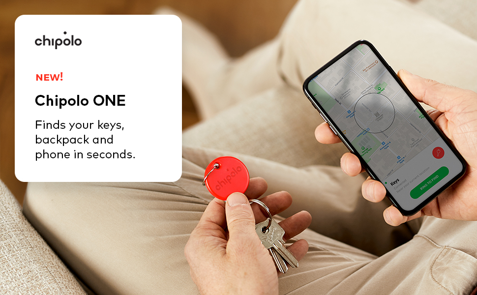 chipolo one bluetooth key finder loudest water resistant