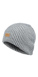 Light Grey wool beanie