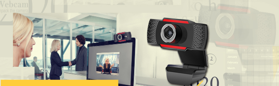 Full Video Webcam with Microphone