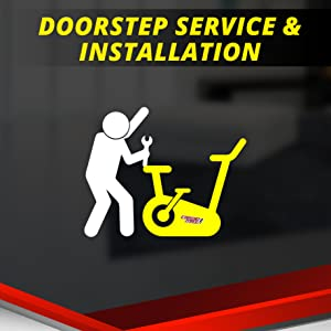 exercise cycle with installation and doorstep service