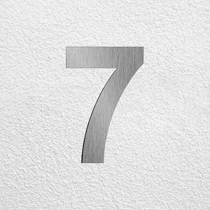 Edelstahl Hausnummer im XXL DESIGN Straight 20 cm, 3