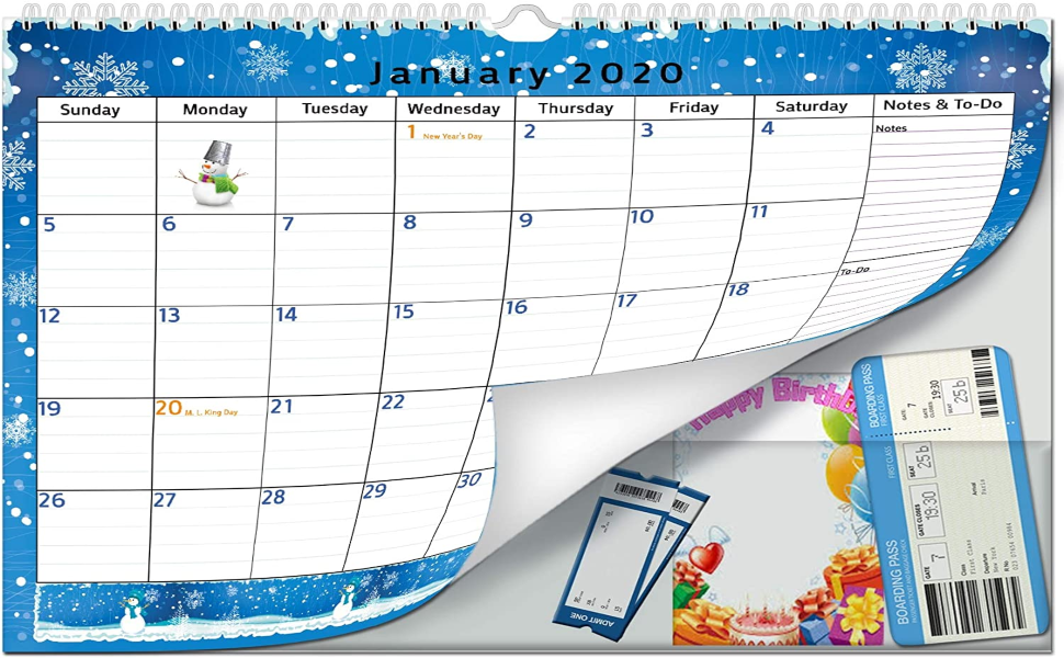 2021 wall desk calendar