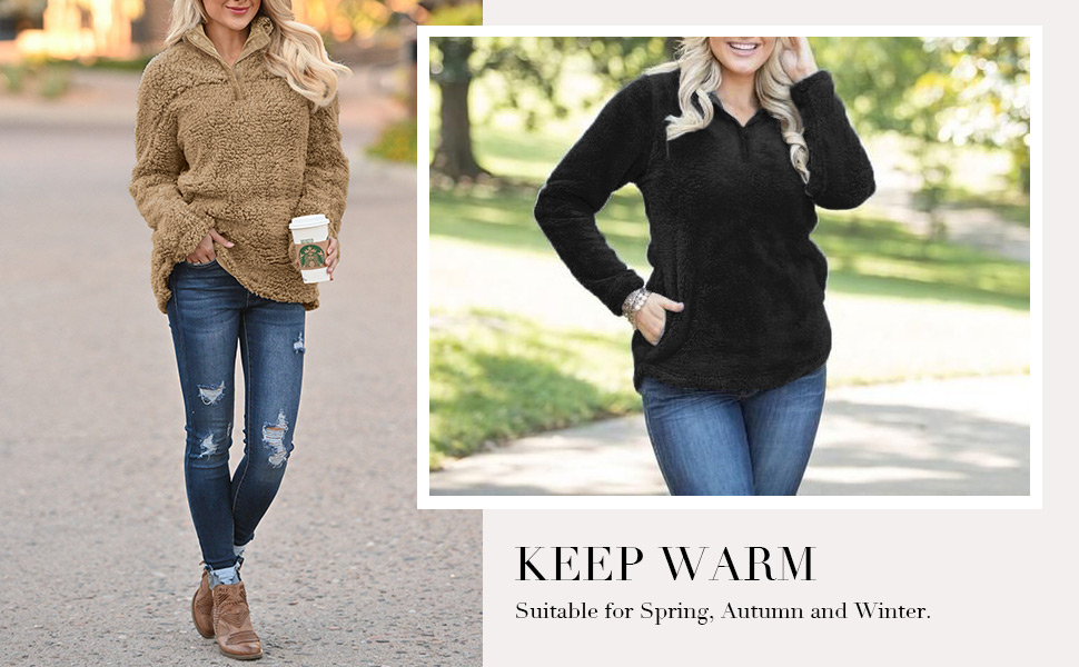 women warm sweatshirt