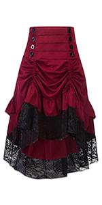 red matching skirt
