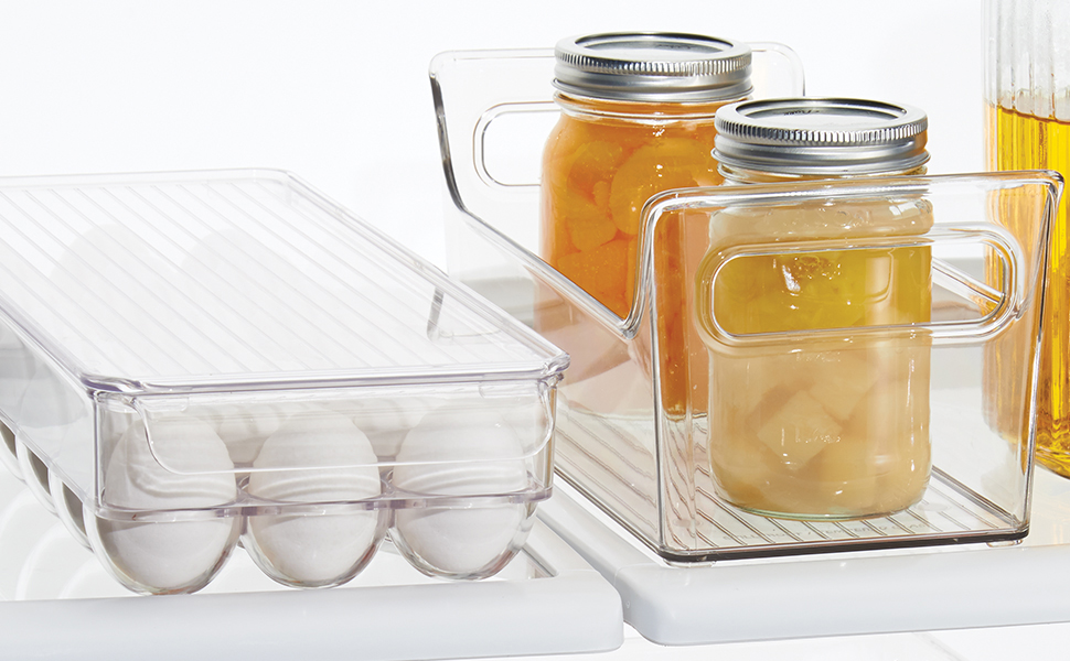 pantry cabinet cupboard countertop counter kitchen bin turntable basket clear plastic egg drawer big