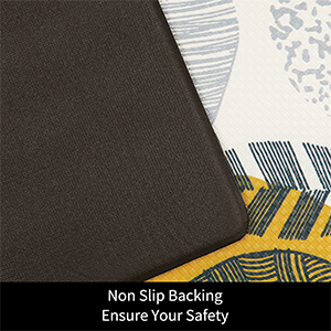 Non slip backing pvc foam kitchen floor mat