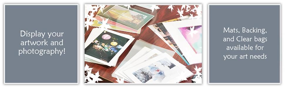 display artwork photography using mat backing clear bag art needs
