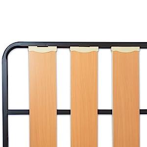 MUEBLIX.COM Somier Lama Ancha para Cama 90 x 180 cm | Somier con 4 Patas | Láminas Madera de Chopo de 17 cm y Estructura de Tubos de Acero | Útil para ...