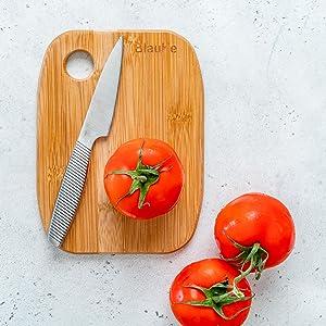 organic bamboo cutting board with non slip feet, large organic bamboo cutting board, kitchen tools
