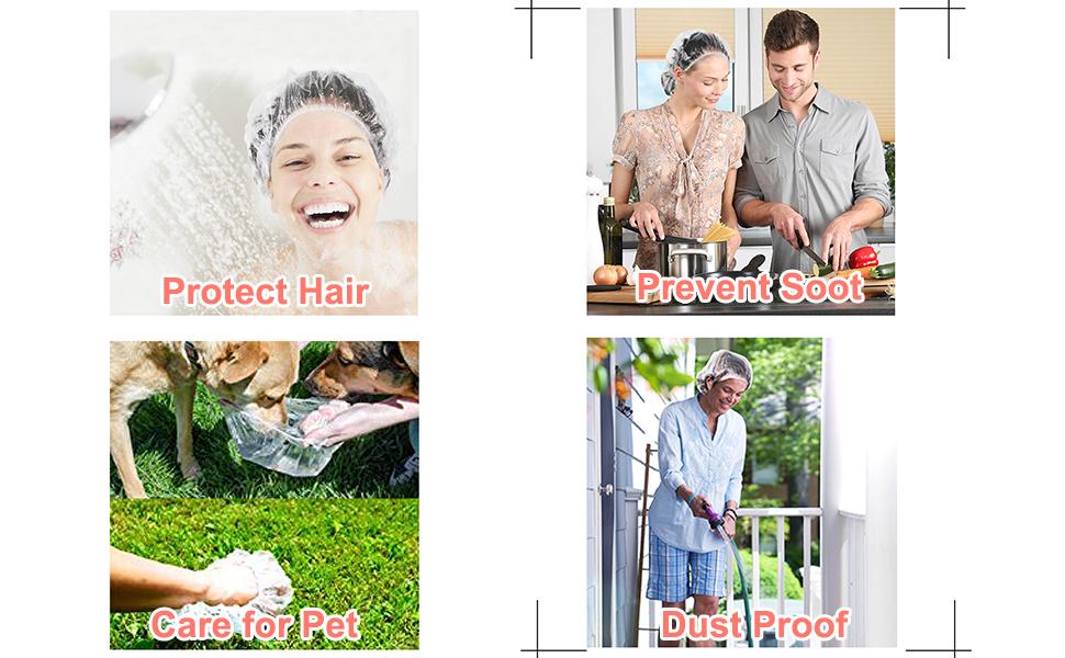 Reusable shower caps