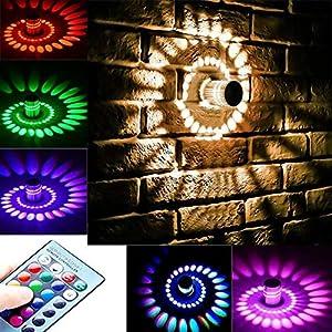 3W Spiral LED Wall Light, Leagway Aluminum Sconce Ceiling Light Aisle Bedroom Vestibule Foyer Cafe