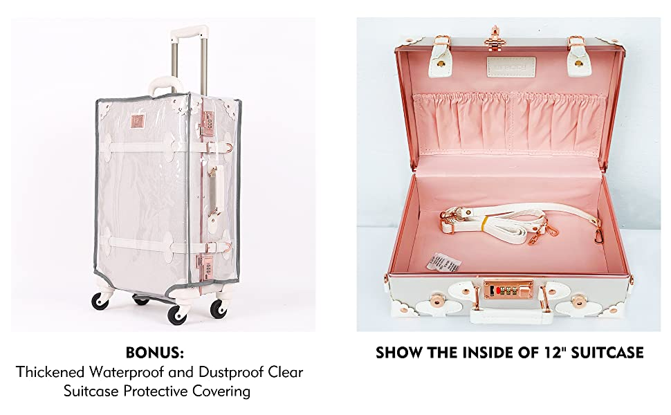 Waterproof and dustproof suitcase protective covering