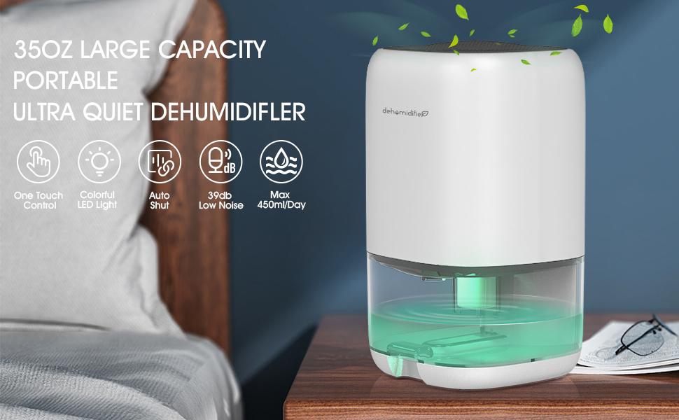 Bedroom Garage Bathroom Portable and Compact Ultra Quiet for Home Wardrobe basements DOUHE Dehumidifier 1000ml Small Dehumidifier Mini Electric Dehumidifier RV Air Cleaner