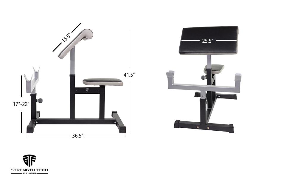 preacher pad, weight bench