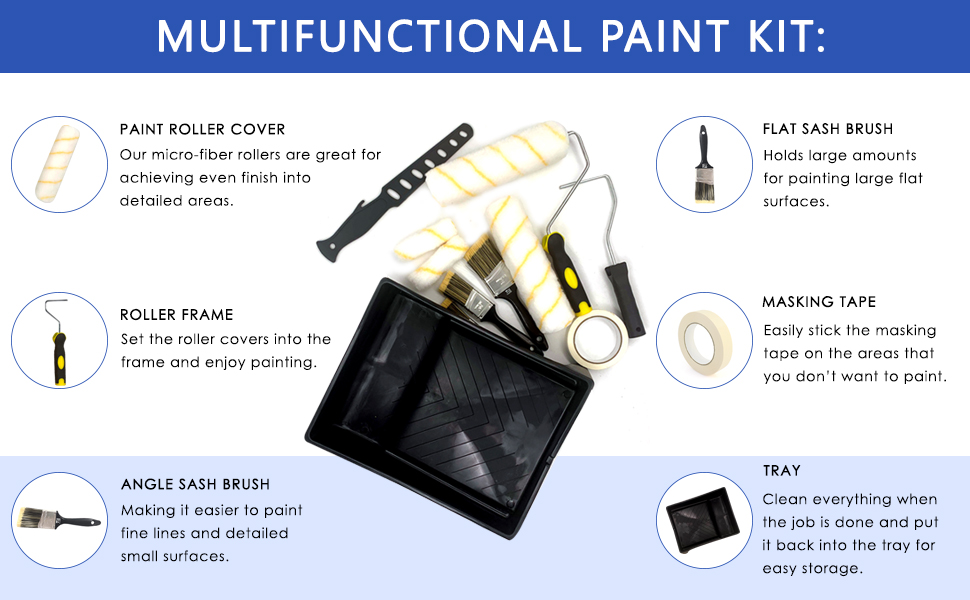 Decorate your home with our paint brush and roller set