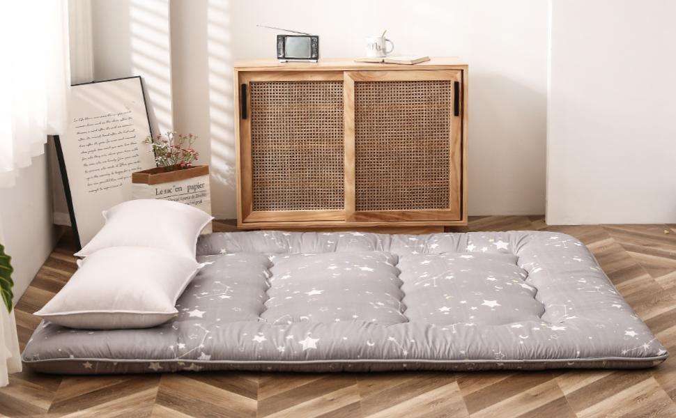Grey Constellation Floor Bed for Kids