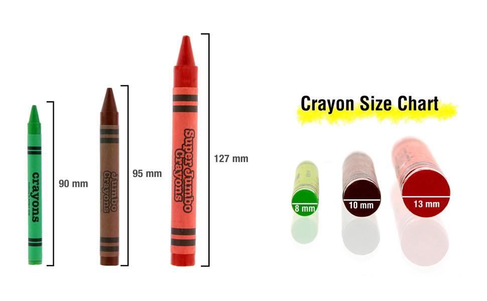 crayon chart size