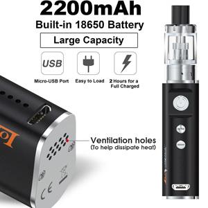 e zigarette starter set 2200akku battery