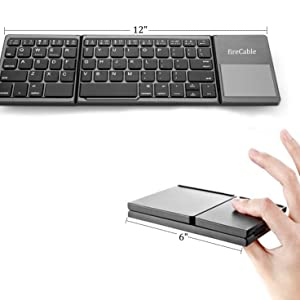 """12"""" full qwerty keyboard collapsed for pocket portability"""