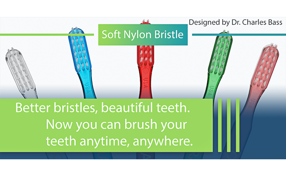 Tooth brush red green pink
