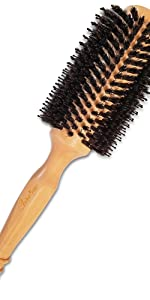 natural 100% boars blow-dry brush for styling straightning blowdrying hair brush for hair dryer