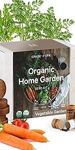 organic vegetable garden kit carrot radish green bean lettuce cherry tomato