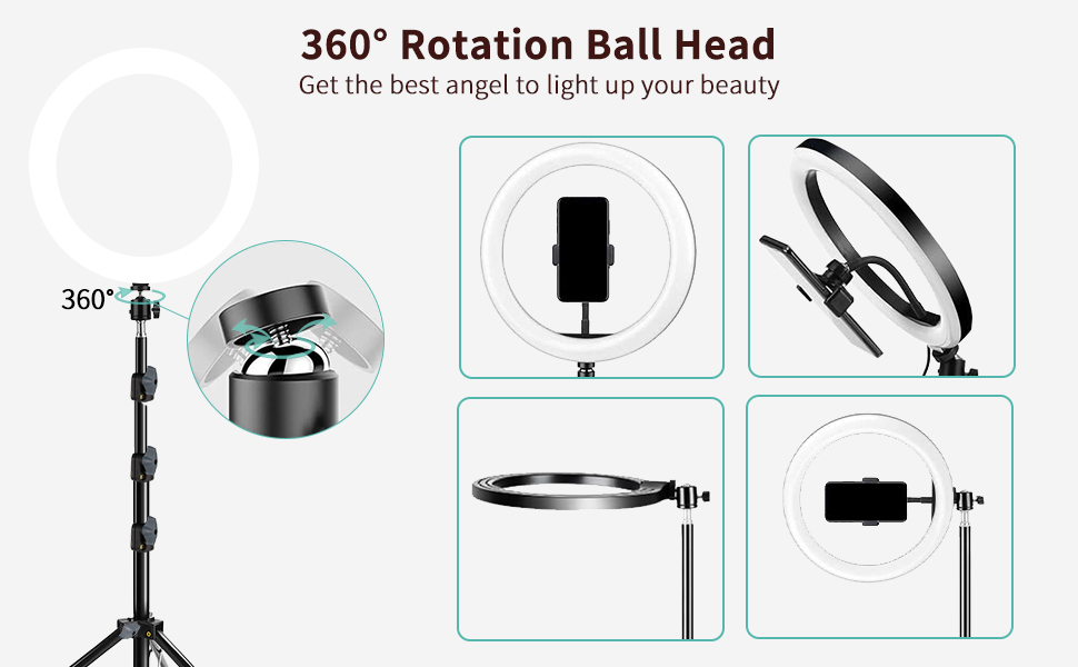 360° Rotation Ball Head