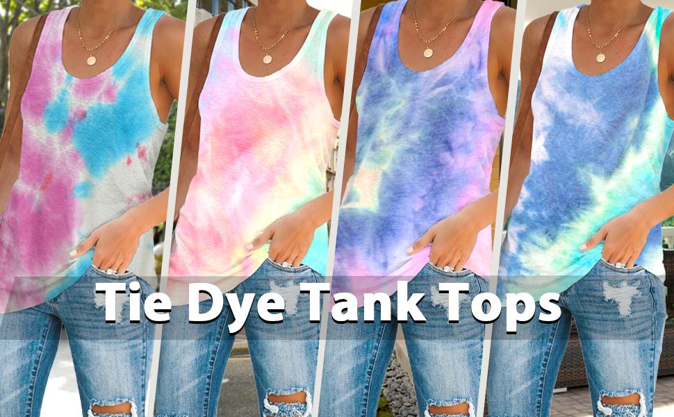 Tie Dye Tank Tops
