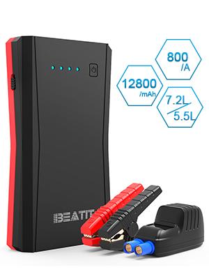 BEATIT B10PRO QDSP 800A Peak 12V arrancador de batería de Litio portátil para Coche (hasta 7.2L de Gas o 5.5L de Motor diésel) Cargador de teléfono ...