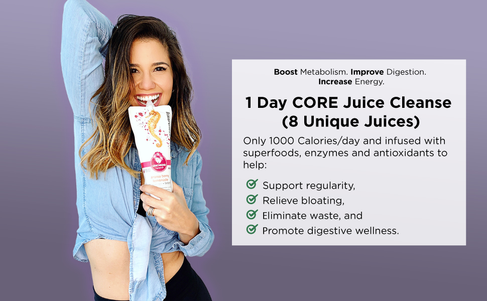 Super Detox Me cleanse Core juice cleanse 1 day cold pressed weight loss