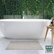 Tapis de bain moelleux