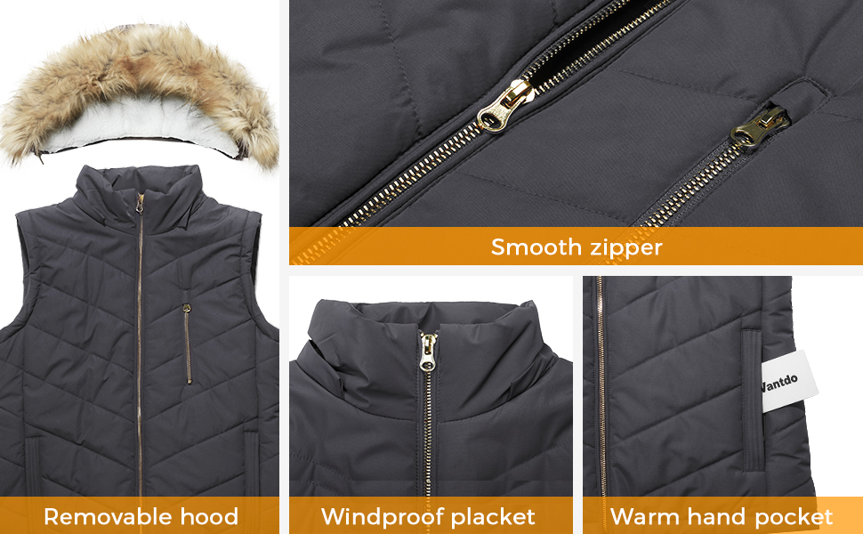 Wantdo Womens Thick Winter Vest