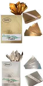 gold silver tissue paper gift wrap wrapping