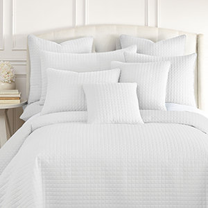 White Quilted Shams