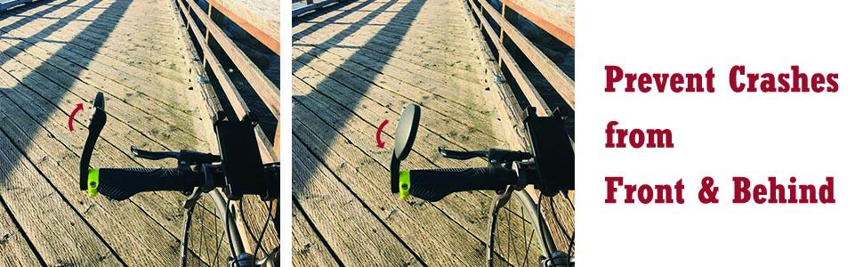 Hafny Bicycle Mirror, Adjustable Angles, Stainless Steel Lens Bike Mirror, Cycle Mirror